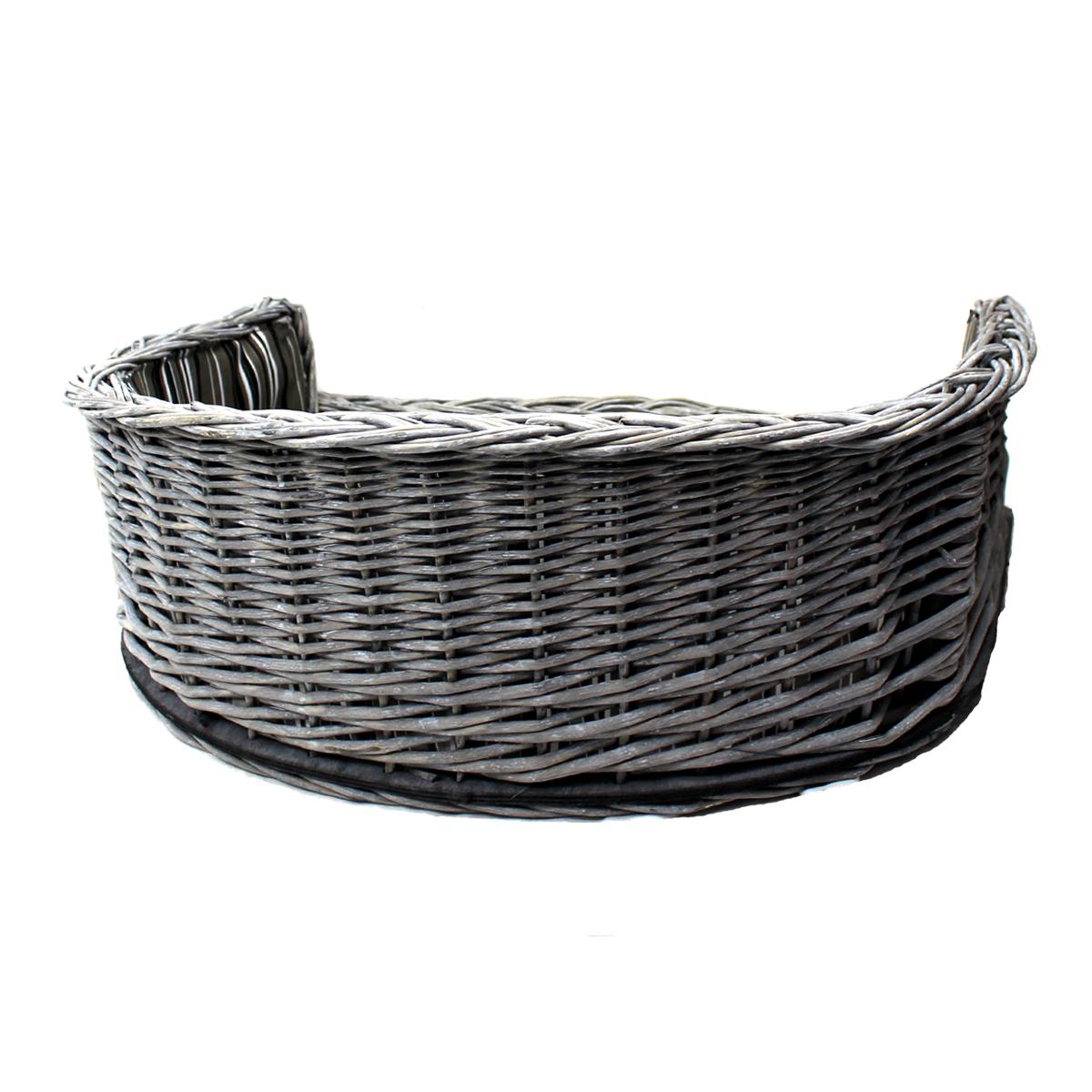 Handmade Wicker Dog Basket : Michur lisa dog cat basket cave bed rattan willow
