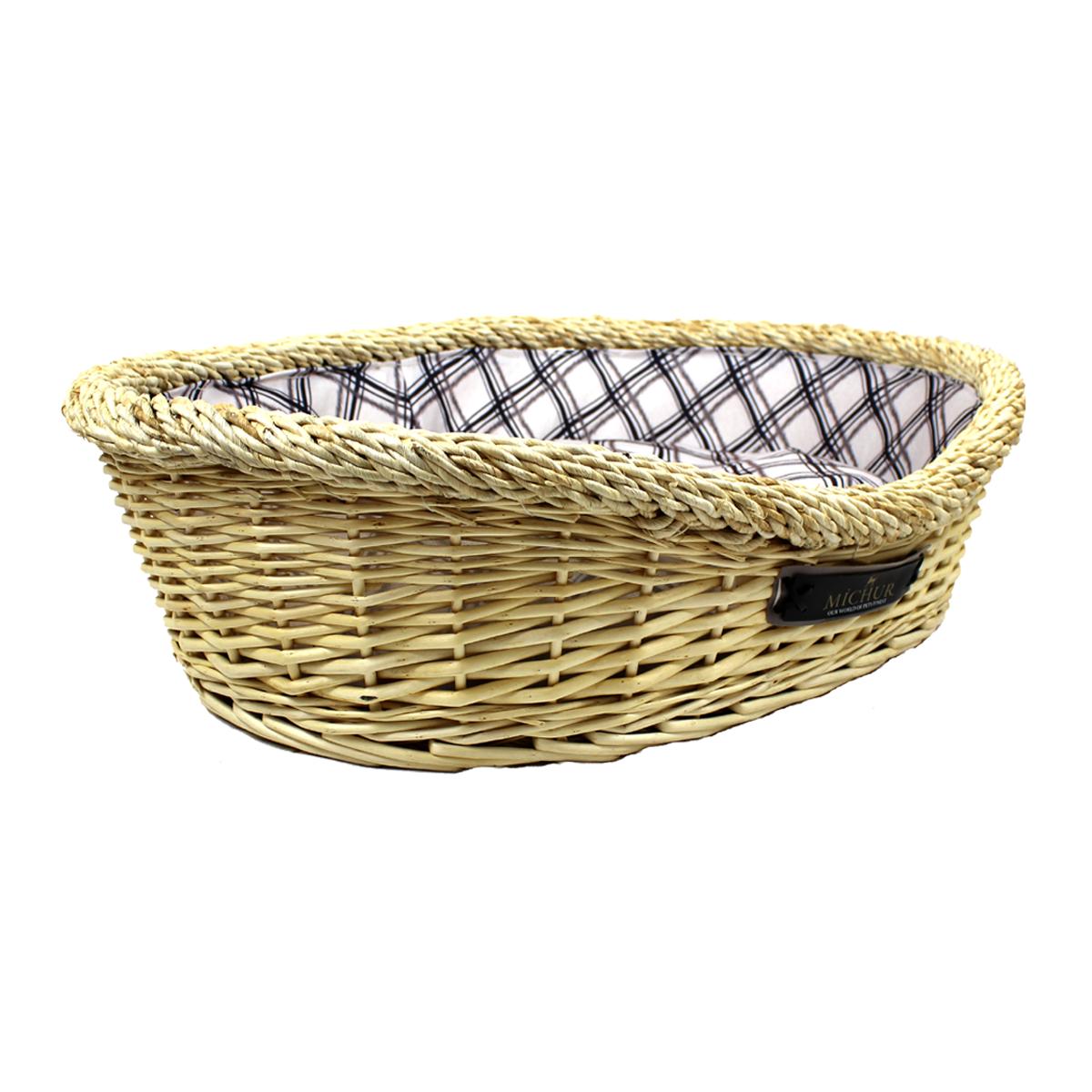 Handmade Wicker Dog Basket : Michur lotte dog cat basket cave bed rattan willow