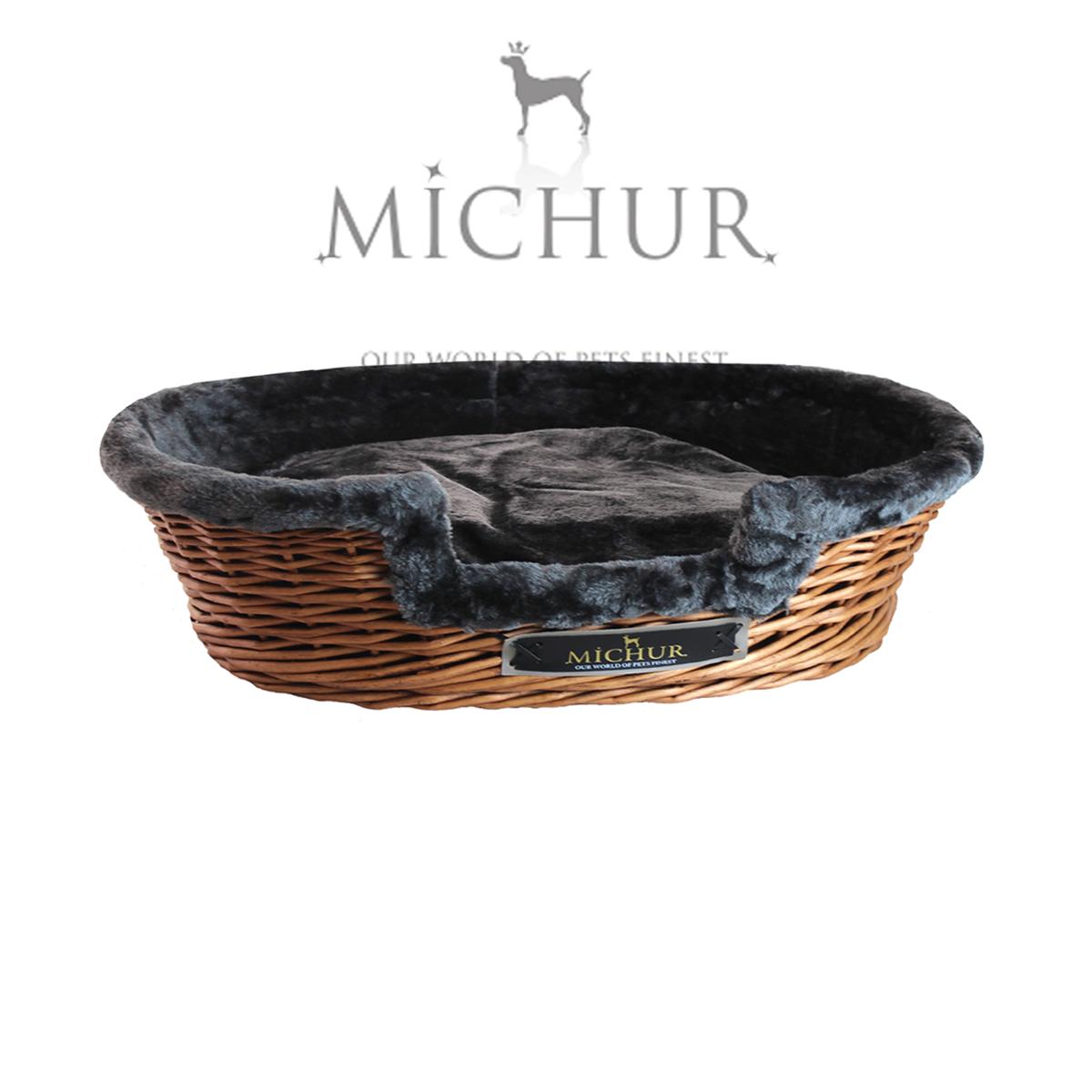 Handmade Wicker Dog Basket : Michur lumpi dog cat basket cave bed rattan willow