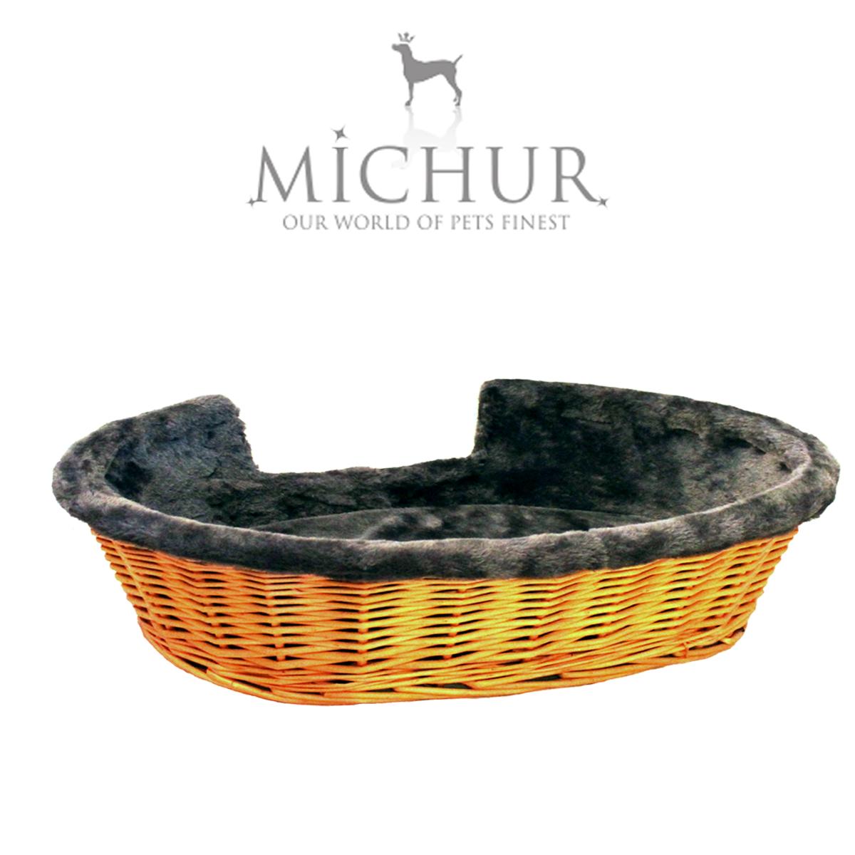 Handmade Wicker Dog Basket : Michur lumpi cognac dog cat basket cave bed rattan